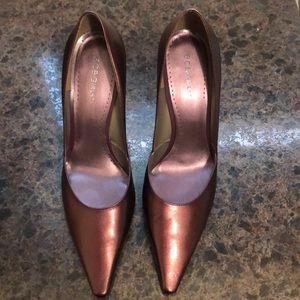 New Purple metallic leather heels